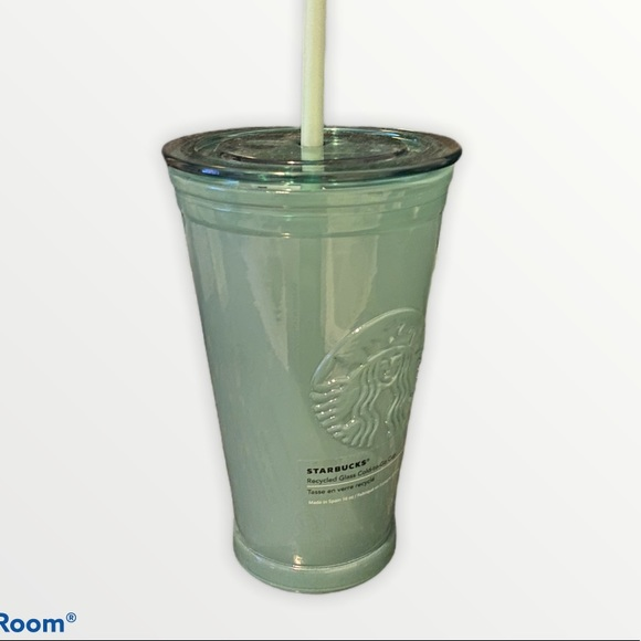 NEW Starbucks Recycled glass cold to go cup